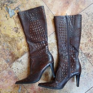 Gianni Bini Shoes - GIANNI LEATHER TALL BOOTS